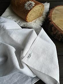 Úžitkový textil - Ľanová kuchynská utierka - 11609966_