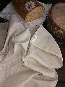 Úžitkový textil - Ľanová kuchynská utierka - 11609970_
