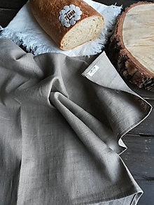 Úžitkový textil - Ľanová kuchynská utierka - 11609976_