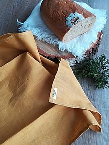 Úžitkový textil - Ľanová kuchynská utierka - 11610013_