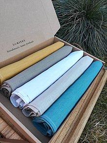 Úžitkový textil - Sada ľanových kuchynských utierok - 11610092_