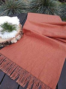 Úžitkový textil - Ľanová štóla Simplicity - 11611575_