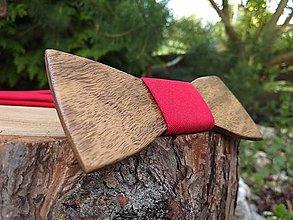 Doplnky - Pánsky drevený motýlik a traky - 11611334_