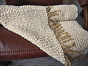 Úžitkový textil - RUČNĚ TKANÝ KOBEREC - PODSEDÁK - PREHOZ 1 - 11609920_