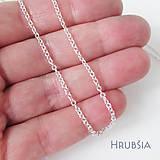 Iné šperky - Retiazka ku šperku (Strieborná Ag925 / Hrubšia očková / cena za 1cm) - 11611934_