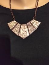 Náhrdelníky - Náhrdeľník s egyptským vzorom - 11612045_