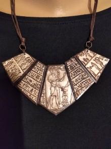 Náhrdelníky - Náhrdeľník s egyptským vzorom - 11612044_