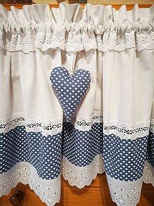 Úžitkový textil - Záclonka modro šedá - 11610188_
