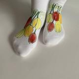 - Maľované kvetinkové ponožky (Tulipánové 6) - 11611419_