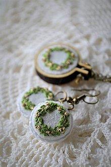 """Sady šperkov - Set náušničky a prívesok, """"venčeky"""" - 11612389_"""