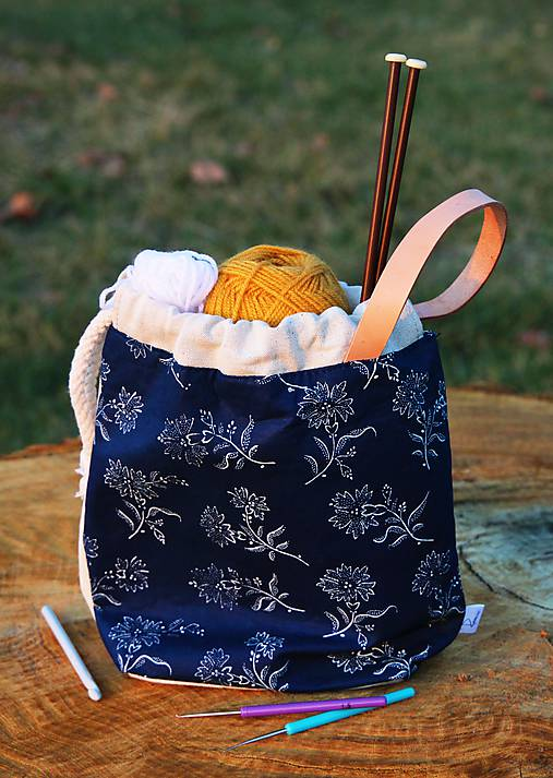 projektová taška mini NATUR + modrotlač