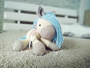 Hračky - Koník s modrou hrivou - 11614309_