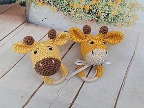 Hračky - Žirafka Agátka a Miško - 11613882_