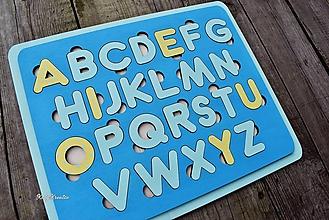 Detské doplnky - chlapčenská vkladačka - abeceda - 11613245_
