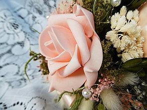 Dekorácie - Ružová kytička - 11614002_
