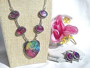 Sady šperkov - Sada šperkov/Solar Quarts/striebro Ag 925/Dichroidné sklo - 11613314_