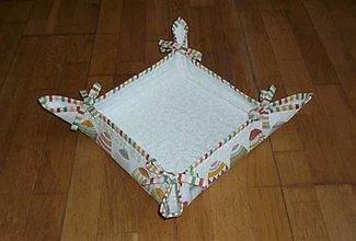 Košíky - Košík VEĽKONOČNÉ VAJÍČKA  (vzorované rohy, stužky pásik) - 11614234_