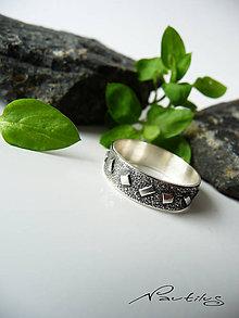 Prstene - Strieborná obrúčka Ag925 s ornamentom II. - 11614673_