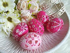 Dekorácie - Sada ružových madeirových kraslíc - 11615149_