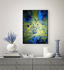 Obrazy - Gold and Blue - 11615064_