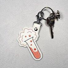 Kľúčenky - Prívesok skúmavka (lososová ružová) - 11615263_