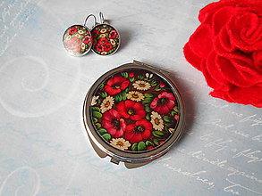 Zrkadielka - Ruský folk I. (zrkadielko + náušničky) - 11613098_