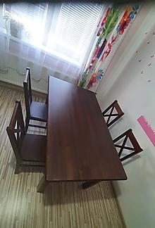 Nábytok - Kuchynsky stol a 4 stolicky - 11613160_