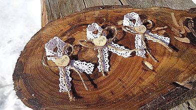 Pierka - Svadobné pierko biele vintage love - 11613425_