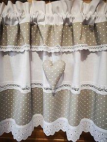 Úžitkový textil - Záclonka šedá - 11613649_