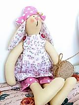 Dekorácie - Textilný zajačik - 11612952_
