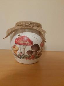 Nádoby - Sklená nádoba  na huby - 11614965_