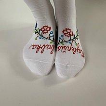 """Obuv - Maľované ponožky pre babku s nápisom: (Najlepšia / babka"""") - 11614346_"""