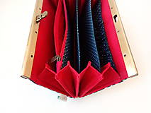 Peňaženky - Peňaženka s priehradkami Bodky (hexagóny) na modrej - 11612841_