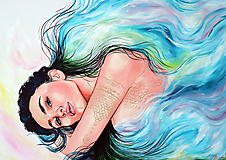 Obrazy - Lady of the lake - 11615084_