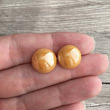 Náušnice - Perleťky žlté - 11615420_