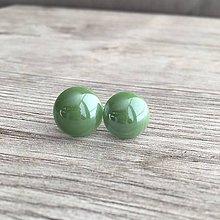 Náušnice - Perleťky zelené - 11615423_