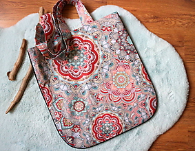 Nákupné tašky - l o t o s mandalový - 11615555_