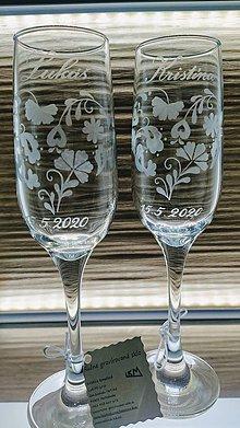 Nádoby - Svadobné poháre, srdiečko ľudové - 11617134_