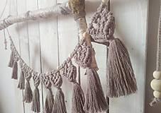 Dekorácie - Makrame girlanda - 11616248_