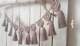 Dekorácie - Makrame girlanda - 11616249_
