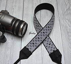 Iné doplnky - Popruh na fotoaparát - Grey eyes - 11616392_