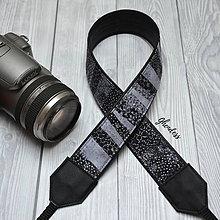 Iné doplnky - Popruh na fotoaparát - Shades of grey - 11616407_