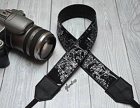 Iné doplnky - Popruh na fotoaparát - Stříbrné pampelišky - 11616414_