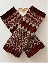 Obuv - Vlnené štucne z tradičným vzorom z Ábelovej-farmárska vlna Portugalsko + Slovensko - 11617474_
