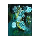 Obrazy - dna . akvarel/akryl na výkrese . A4 . - 11616539_