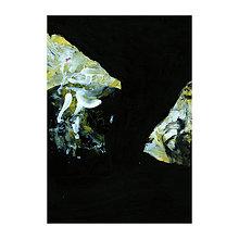 Obrazy - opustená . akryl na výkrese . A4 . - 11616543_