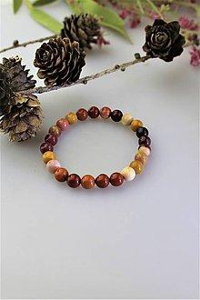 Náramky - jaspisový náramok - jaspis mokait (detský náramok) - 11615896_