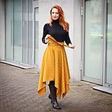 Sukne - NESSA - cípová károvaná zavinovacia sukňa s viazačkou - 11615591_