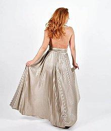 Sukne - Plisovaná sukňa so zlatým odleskom - 11615403_