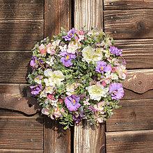 Dekorácie - Venček na dvere s motýlikmi - 11615315_